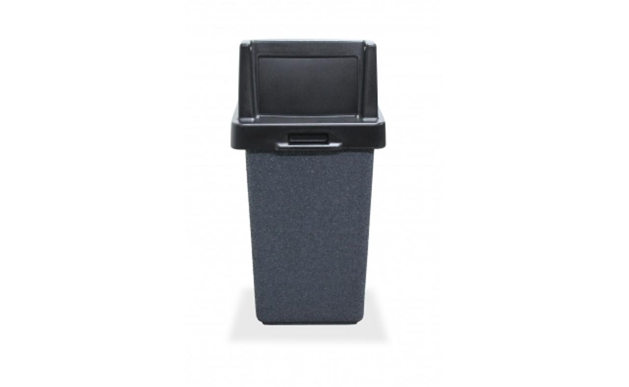 30 Gallon Concrete Push Door Lid Outdoor Trash Can TF1015QS-W26-10