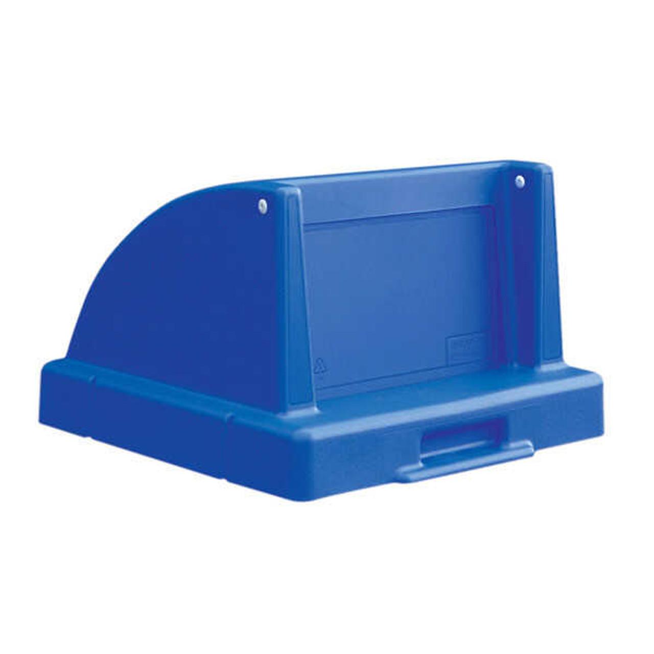20.5 x 20.5 Push Door Plastic Lids TF1405QS for Square Trash Cans Blue