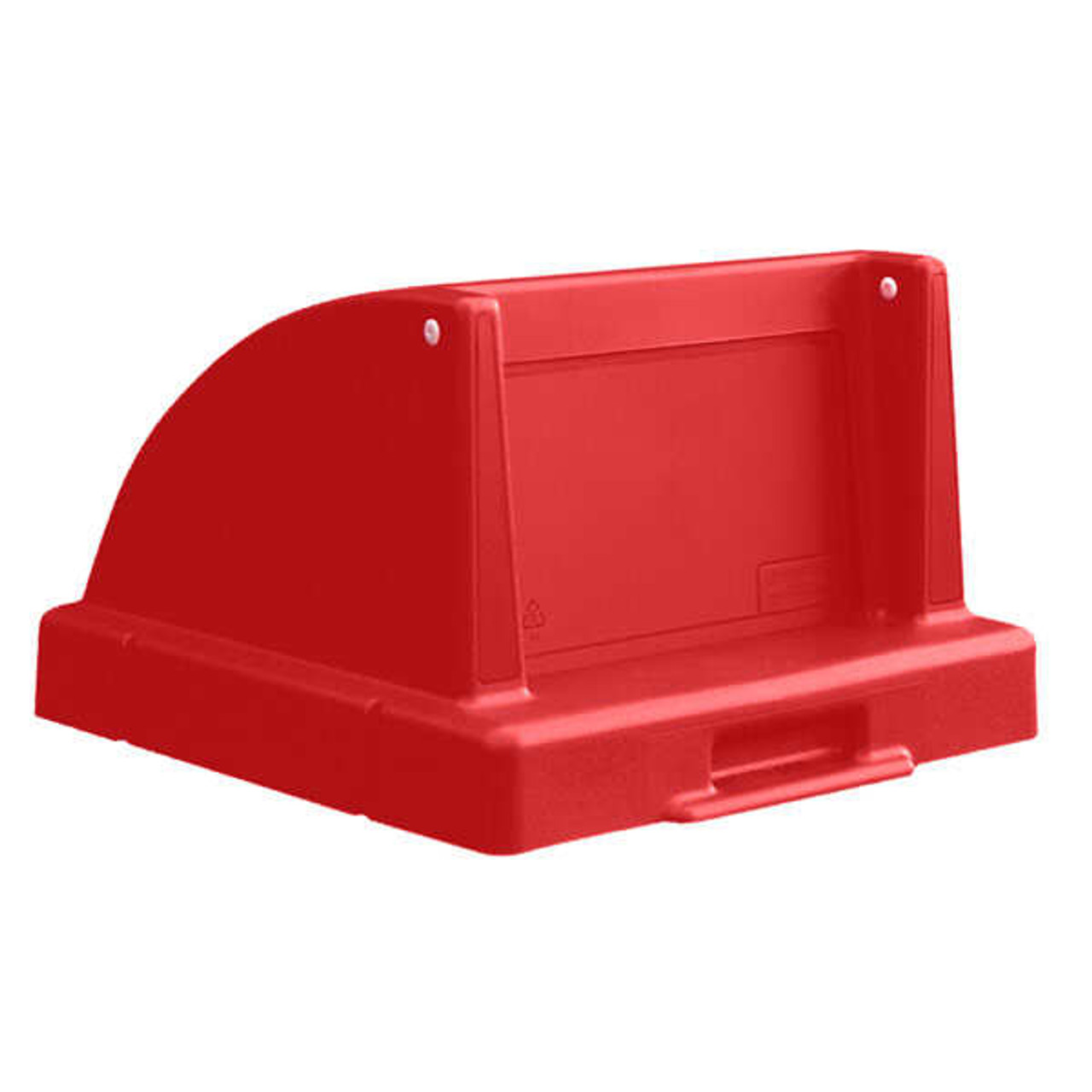 20.5 x 20.5 Push Door Plastic Lids TF1405QS for Square Trash Cans Red