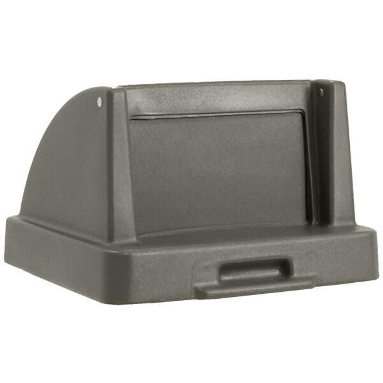 20.5 x 20.5 Push Door Plastic Lids TF1405QS for Square Trash Cans Gray