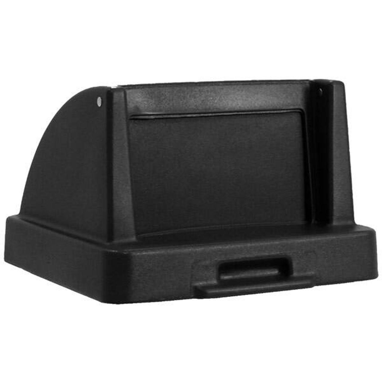 20.5 x 20.5 Push Door Plastic Lids TF1405QS for Square Trash Cans Black