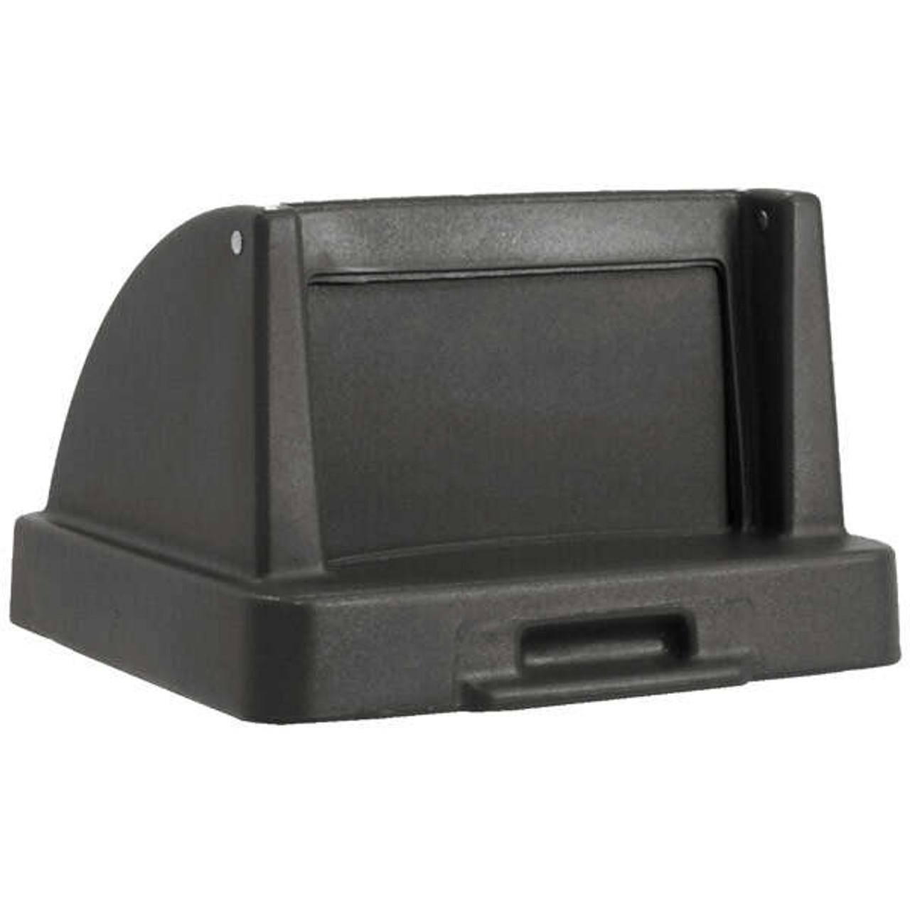 20.5 x 20.5 Push Door Plastic Lids TF1405QS for Square Trash Cans Charcoal