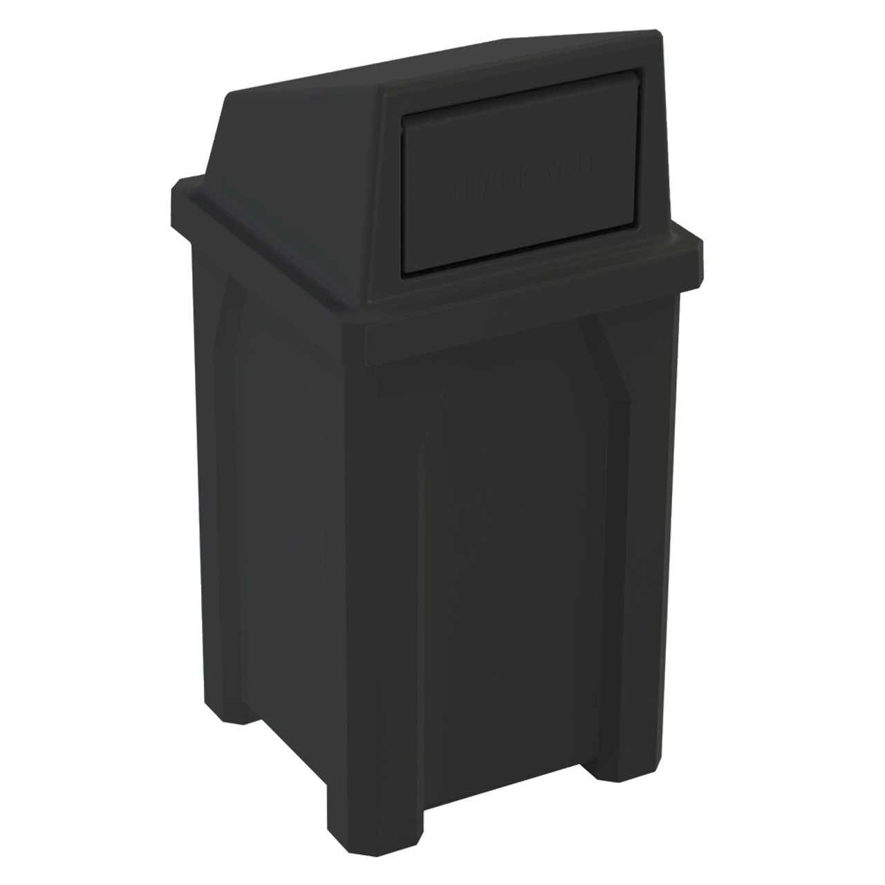 32 Gallon Kolor Can Indoor Outdoor Trash Can S7801A BLACK