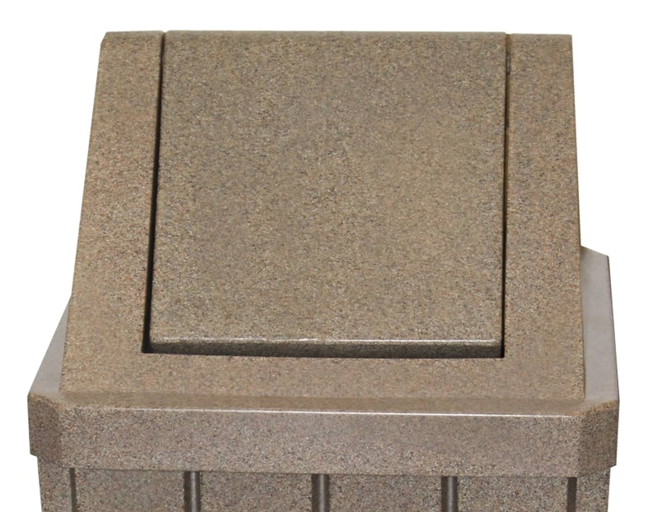 Swing Top Lid Beige Granite