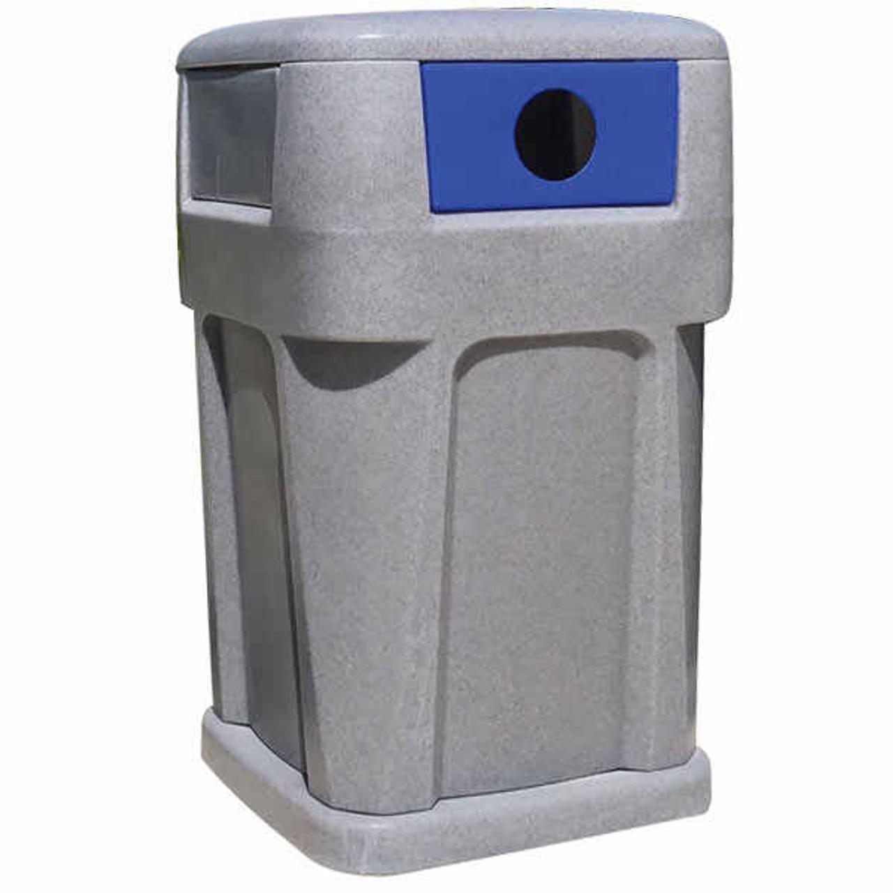 65 Gallon Heavy Duty Plastic Liftable City Recycle Bin TF1954