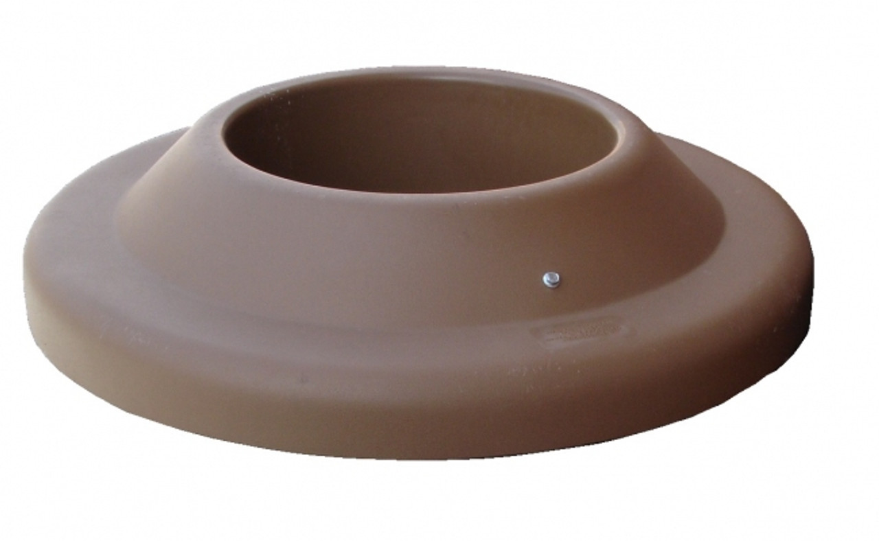 22.75 Inch Plastic Pitch In Lid TF1506 for MF Round Trash Cans (Brown)