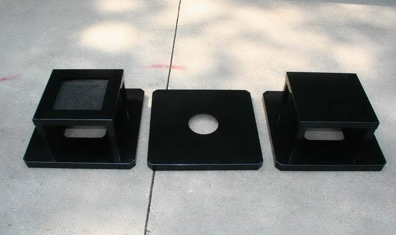 Square Steel Lids for 32 Gallon Metal Trash Cans S8030, S8040, S8050