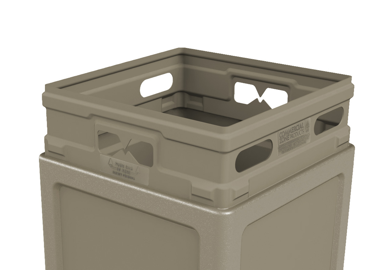 42 Gallon Square Garbage Can Dome Lid And Ashtray 73300199