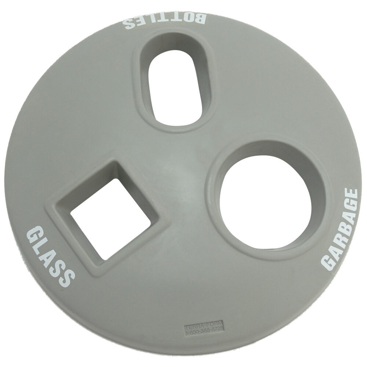 24 Inch Plastic Round Recycle Lid TF1516 with 3 Openings