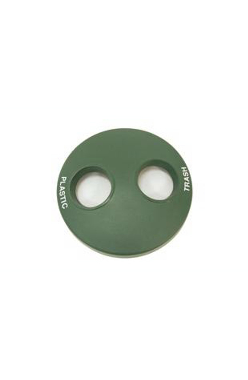 24 Inch Plastic Round Recycle Lid TF1522 with 2 Openings