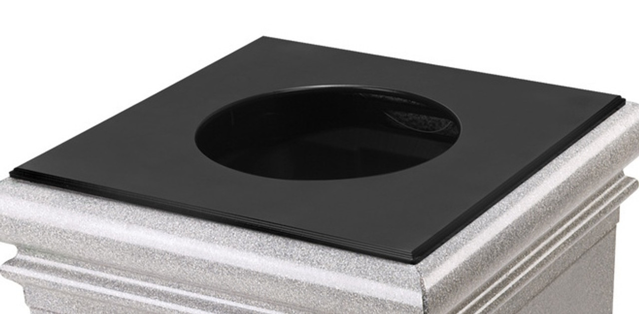 20 Inch Square Metal Lid Only 792501 for Square Stontec Trash Cans