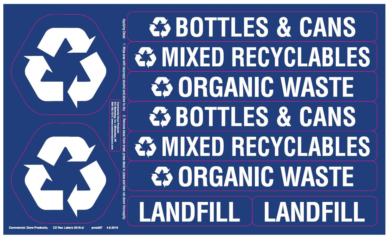 Recycle 42 Decal Sticker Set