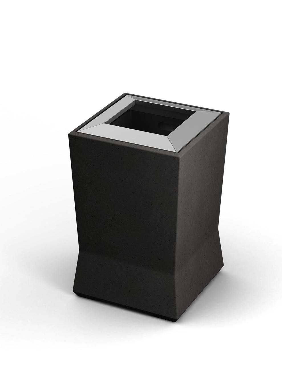 20 Gallon ModTec Plastic & Steel Designer Trash Can 724566 Gunmetal Satin