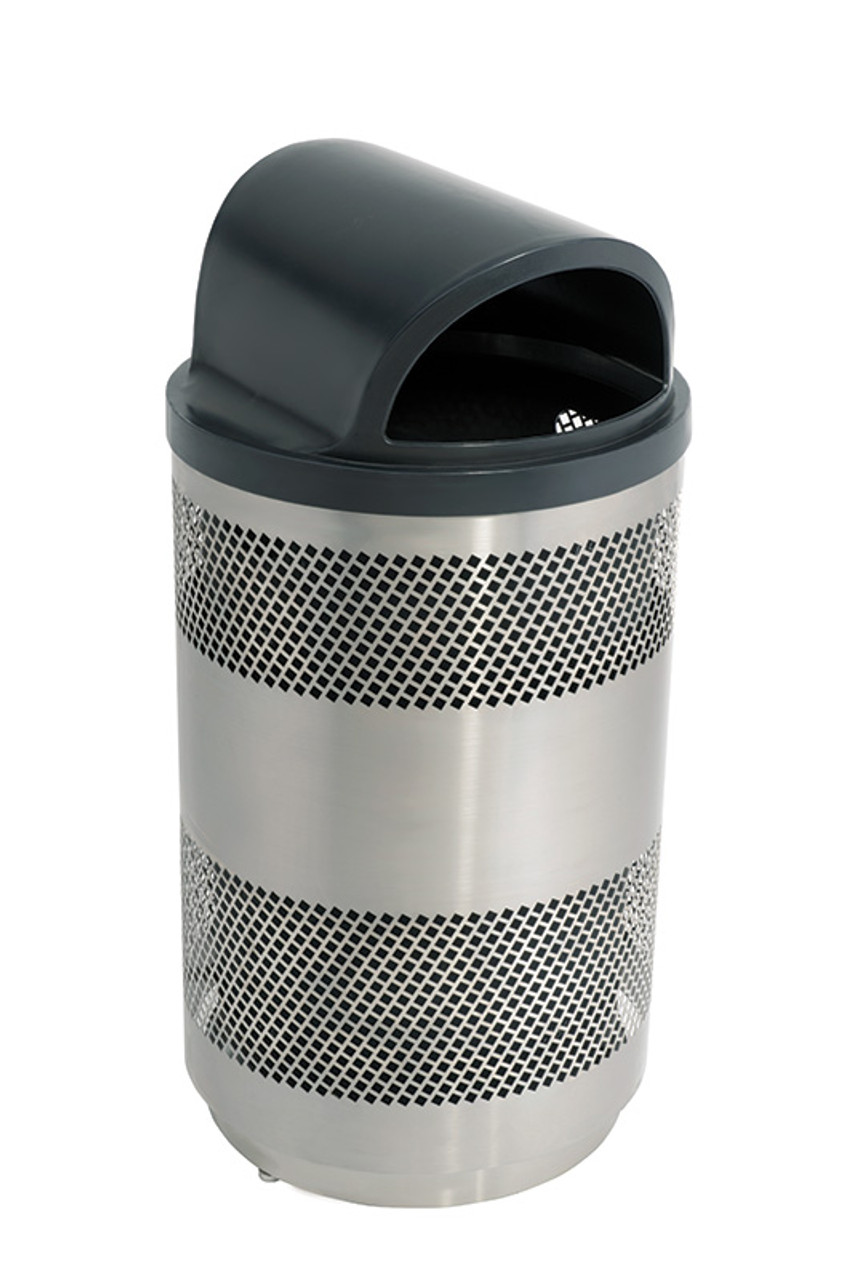 55 Gallon Stainless Steel Covered Trash Can Accent Series MTCPERFRM55