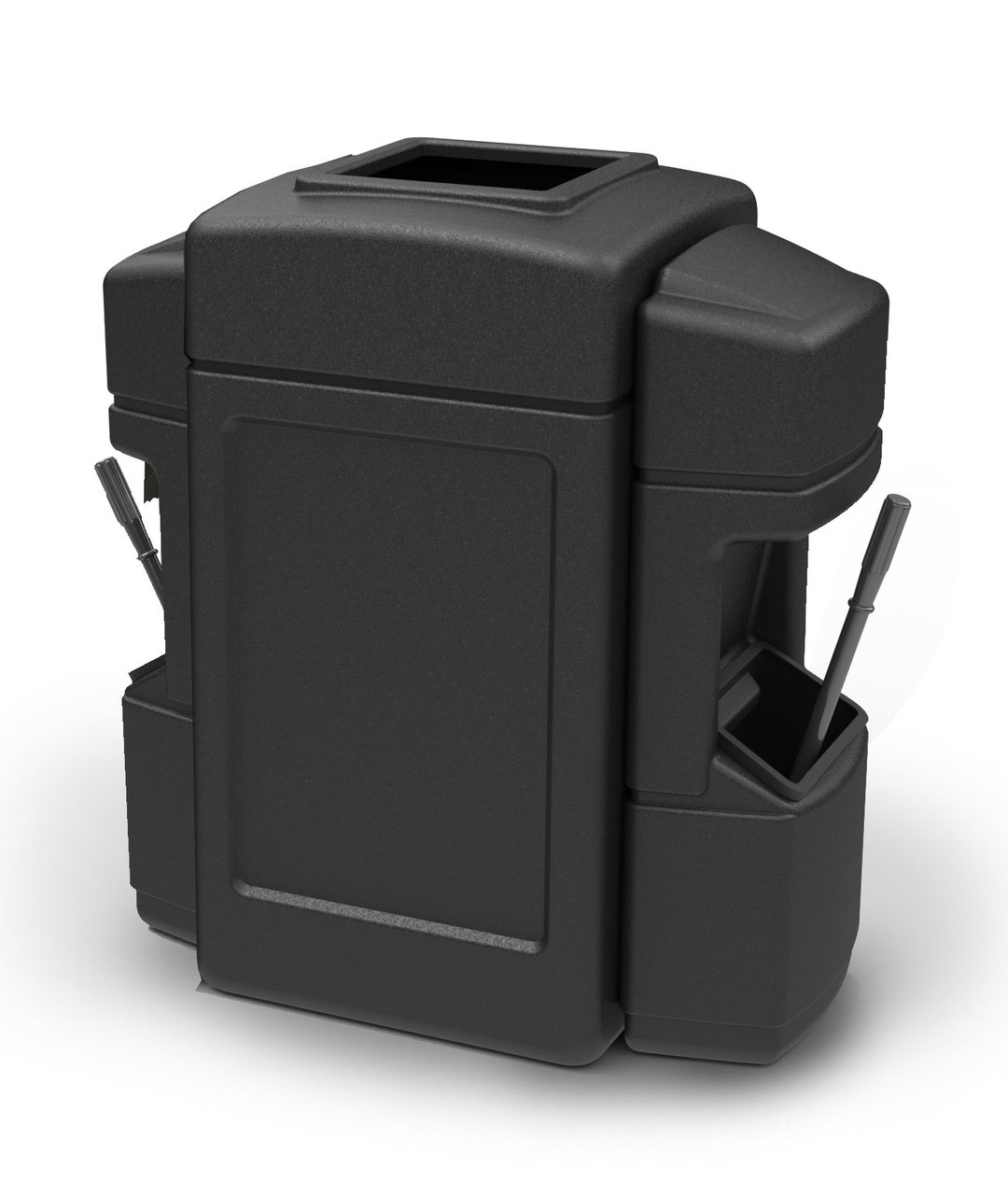 42 Gallon Aruba 2 Trash Can with Dual Windshield Service Centers 75990199