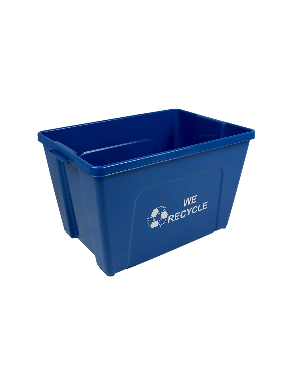 18 Gallon WE RECYCLE Bottles & Cans Curbside Recycler Blue TRUE18-01WR