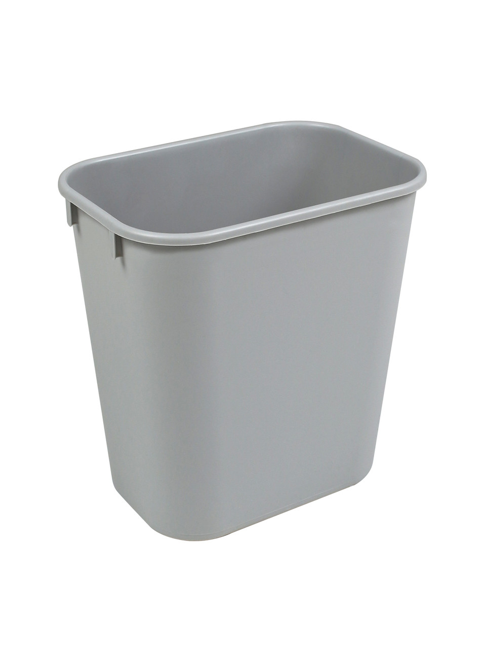 14 Quart Home or Office Plastic Wastebasket Gray 14QGY (2 Pack)