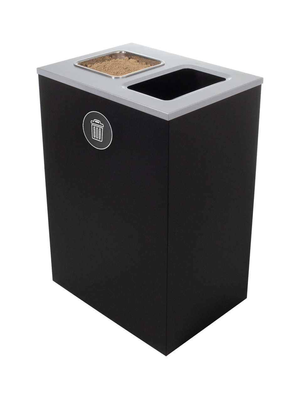 32 Gallon Steel Spectrum Cube XL Ash and Trash Can Black 8107136-4