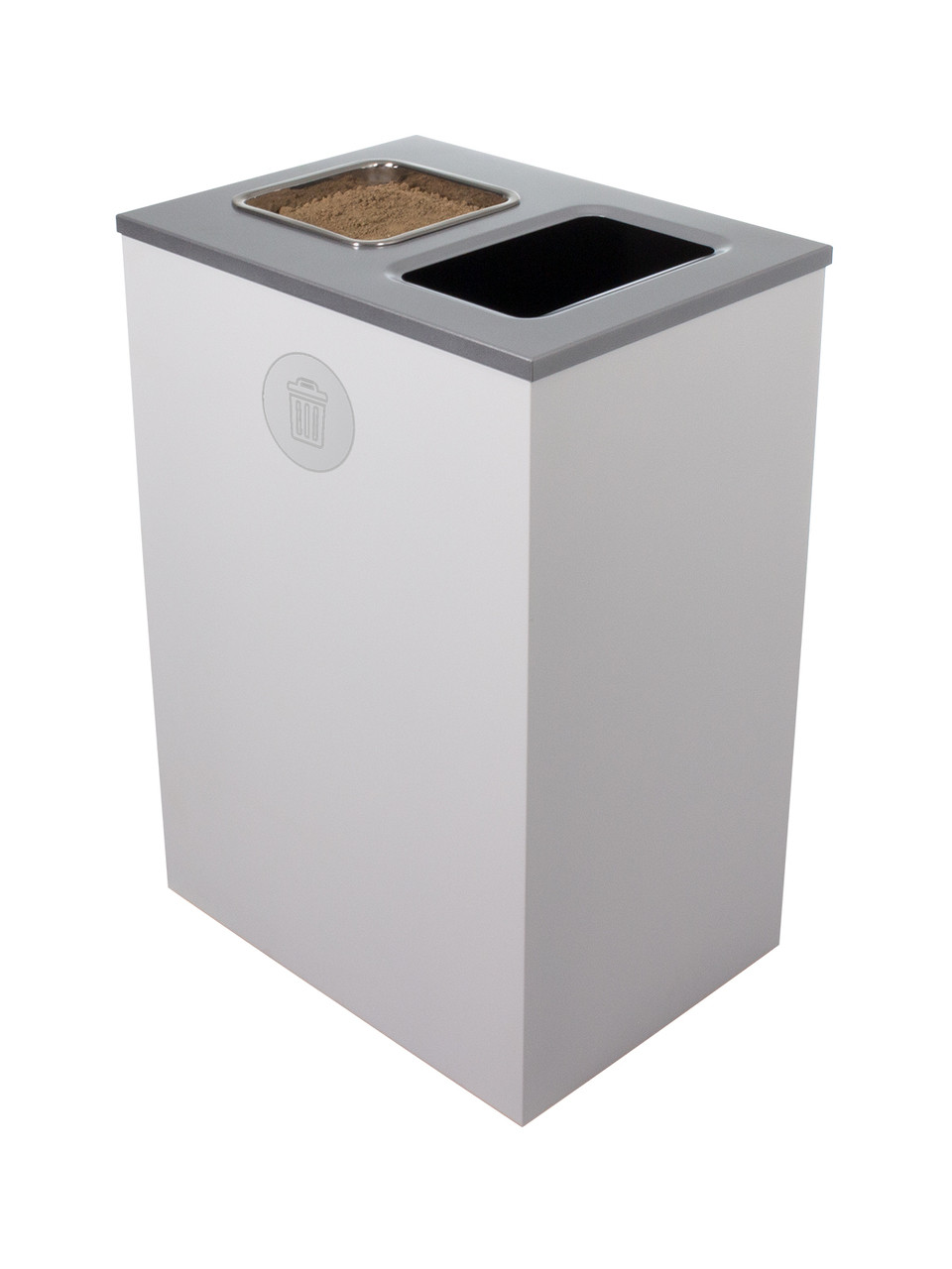 32 Gallon Steel Spectrum Cube XL Ash and Trash Can White 8107137-4