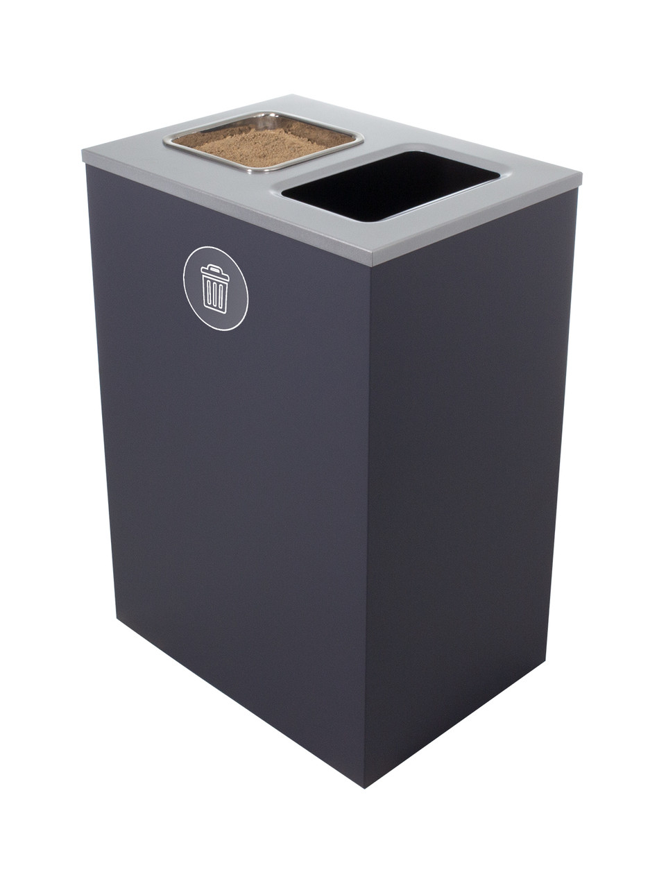 32 Gallon Steel Spectrum Cube XL Ash and Trash Can Gray 8107138-4