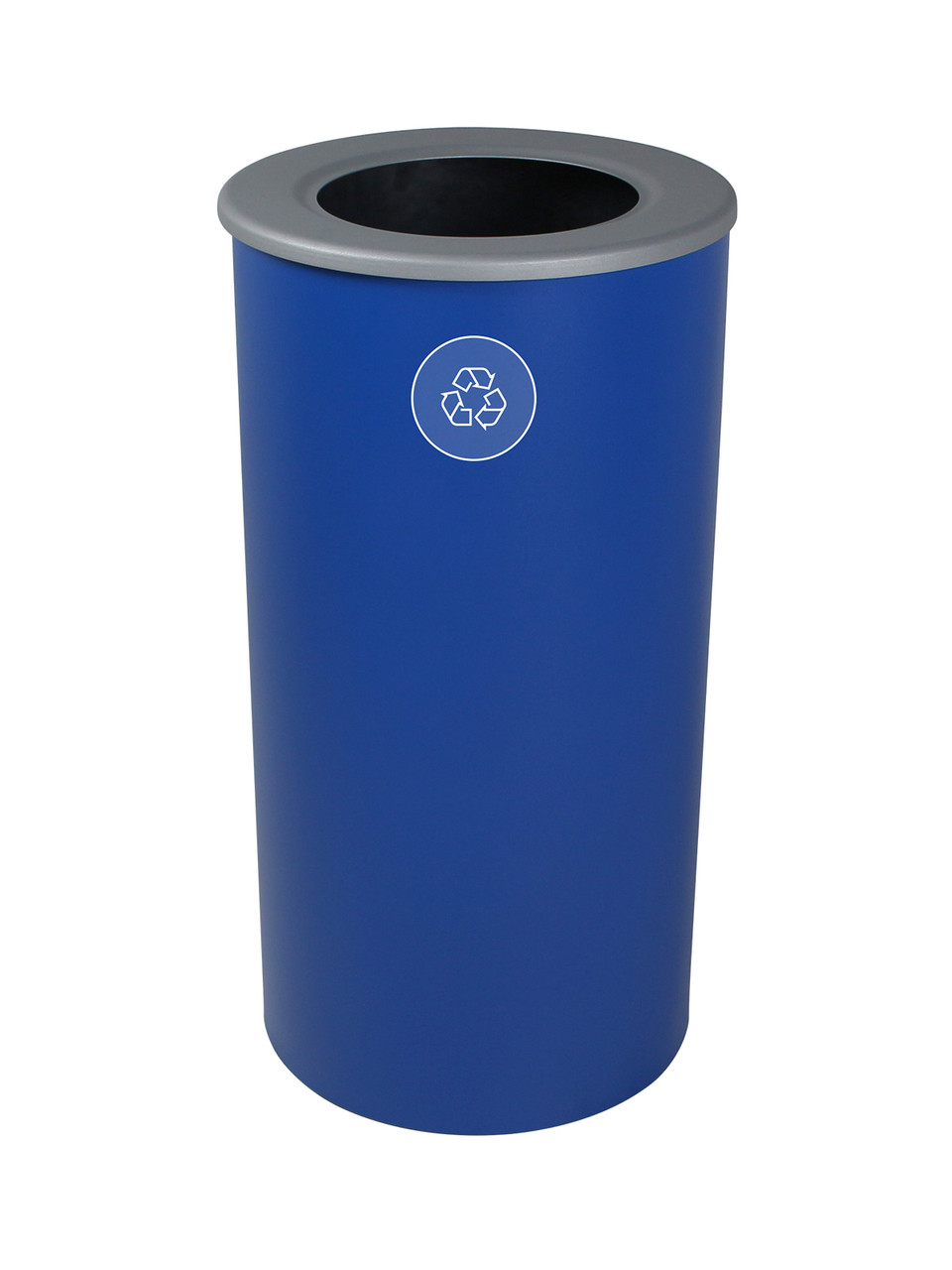 20 Gallon Steel Spectrum Round Recycle Bin Blue 8107125-4