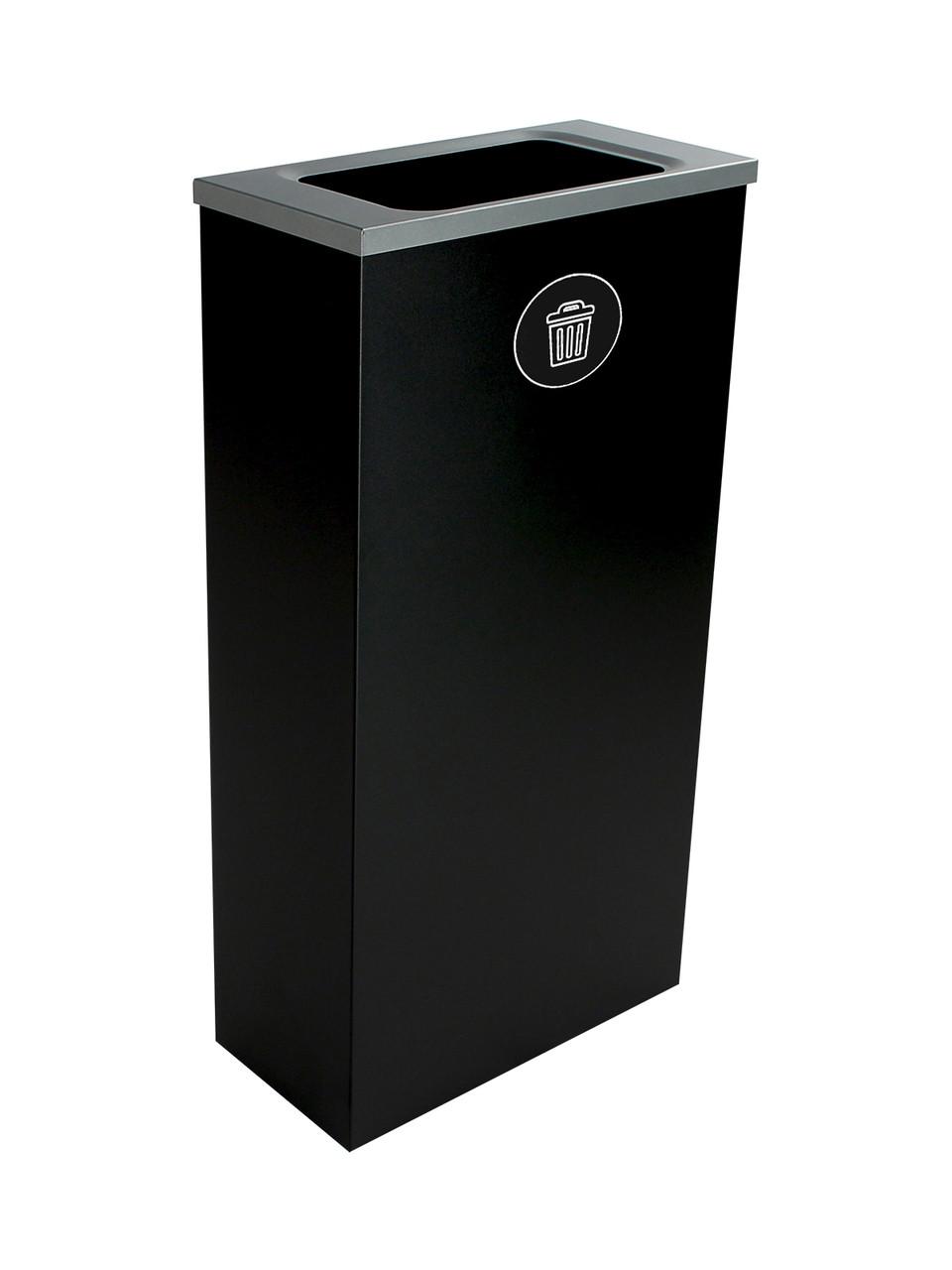 10 Gallon Steel Spectrum Slim Trash Can Black  8107067-4