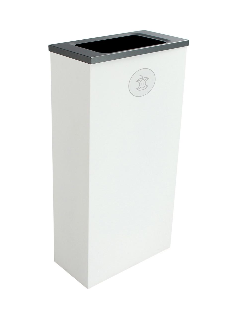 10 Gallon Steel Spectrum Slim Compost Bin White 8107072-4