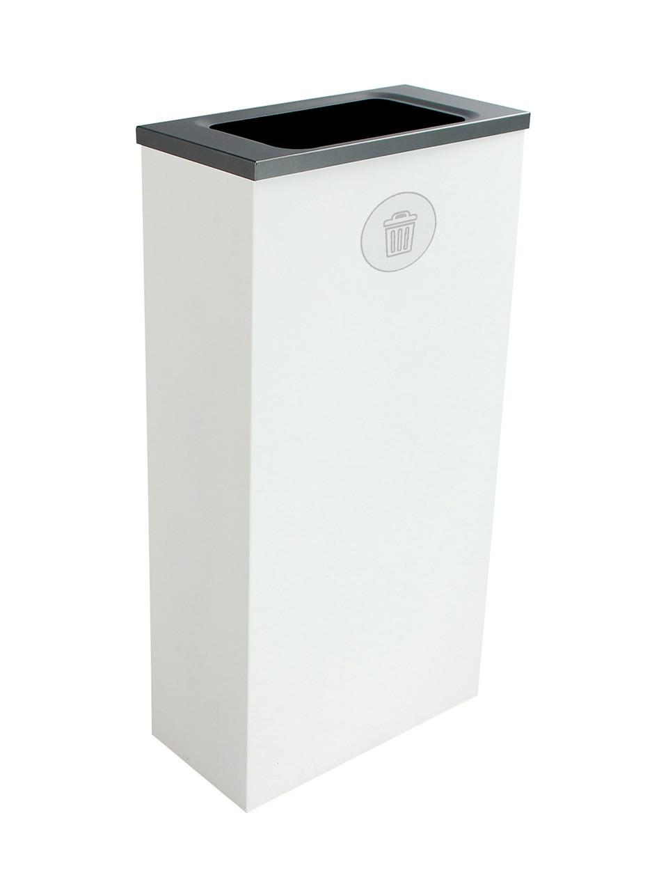 10 Gallon Steel Spectrum Slim Trash Can White 8107069-4