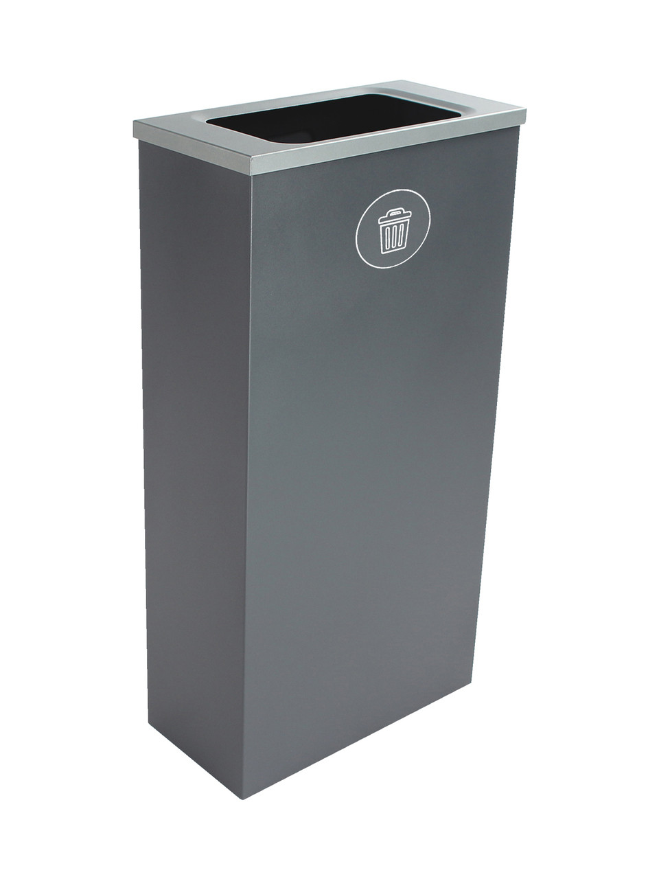 10 Gallon Steel Spectrum Slim Trash Can Gray 8107068-4