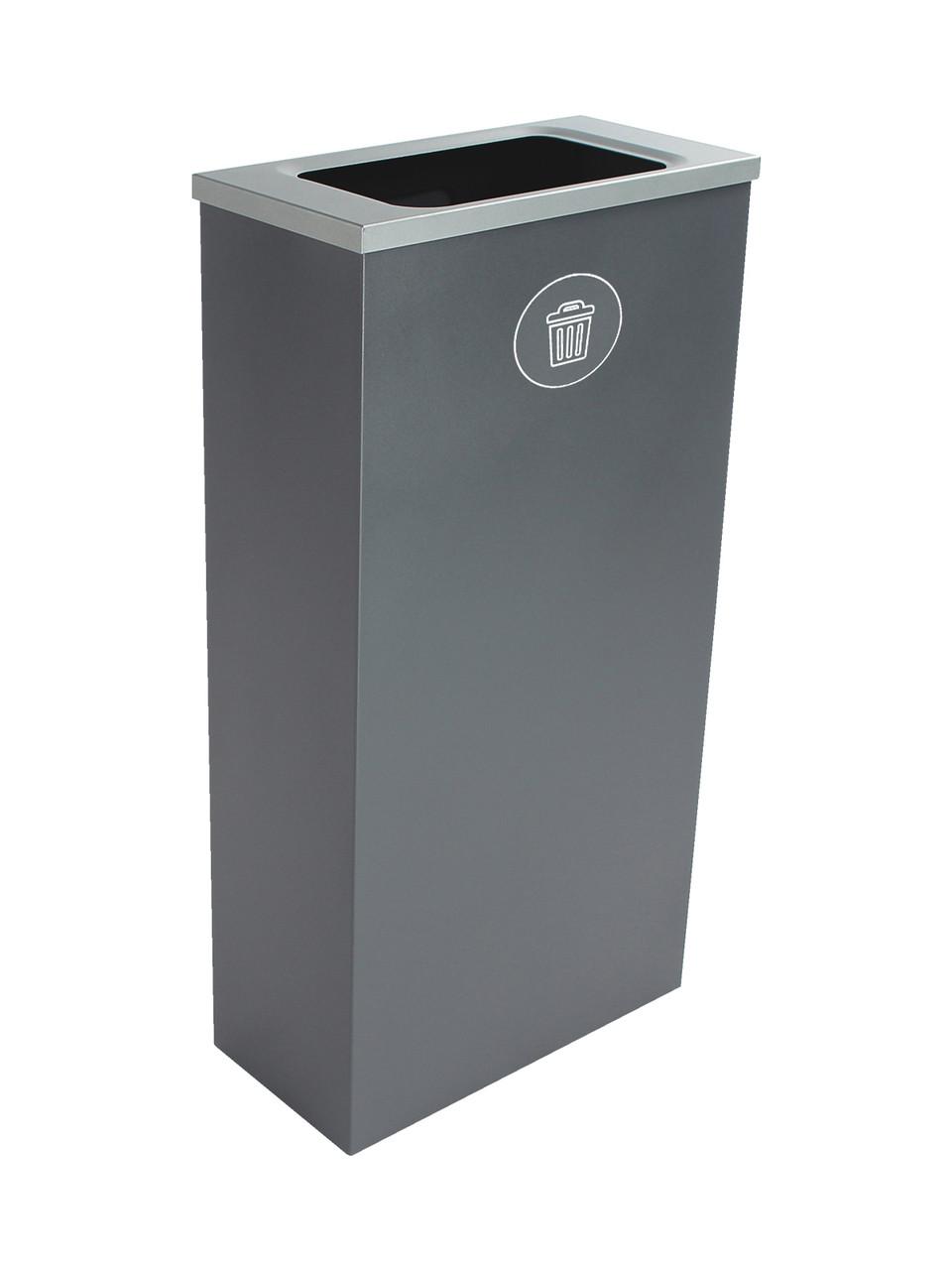 10 Gallon Steel Spectrum Slim Trash Can Gray 8107068-4