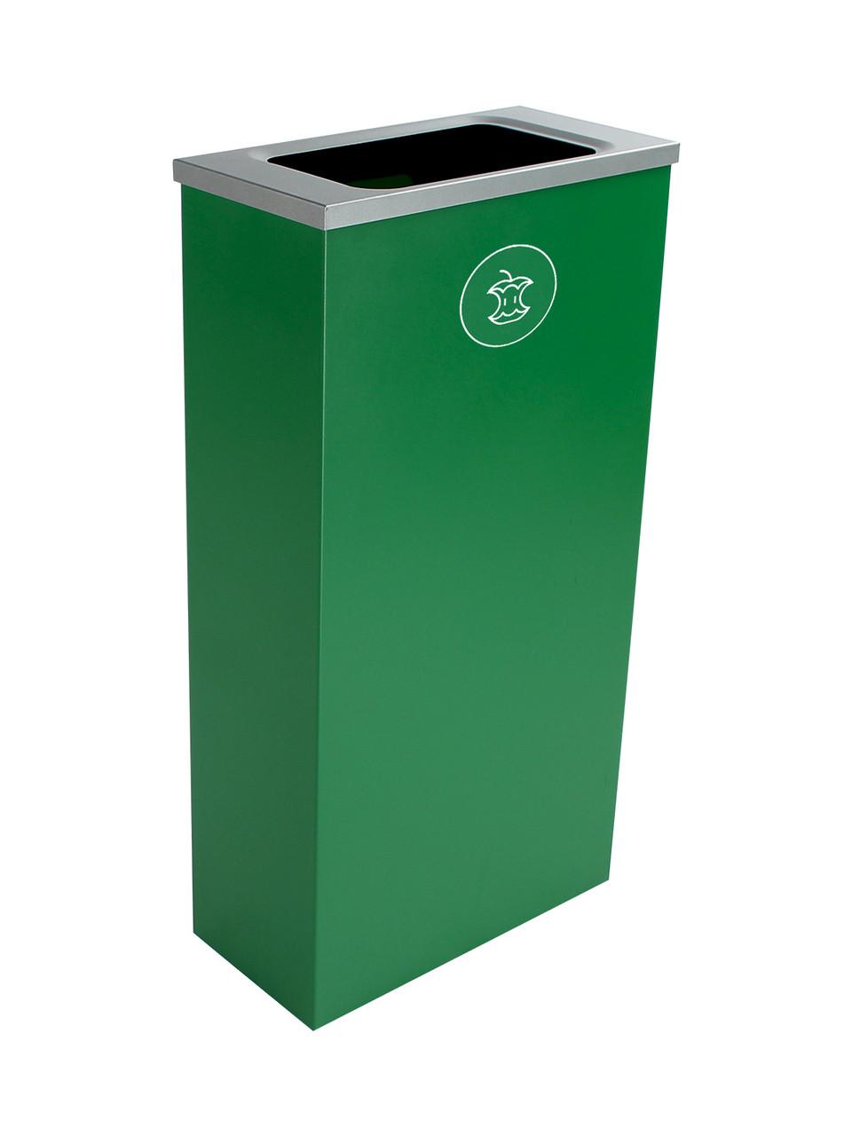 10 Gallon Steel Spectrum Slim Compost Bin Green 8107070-4