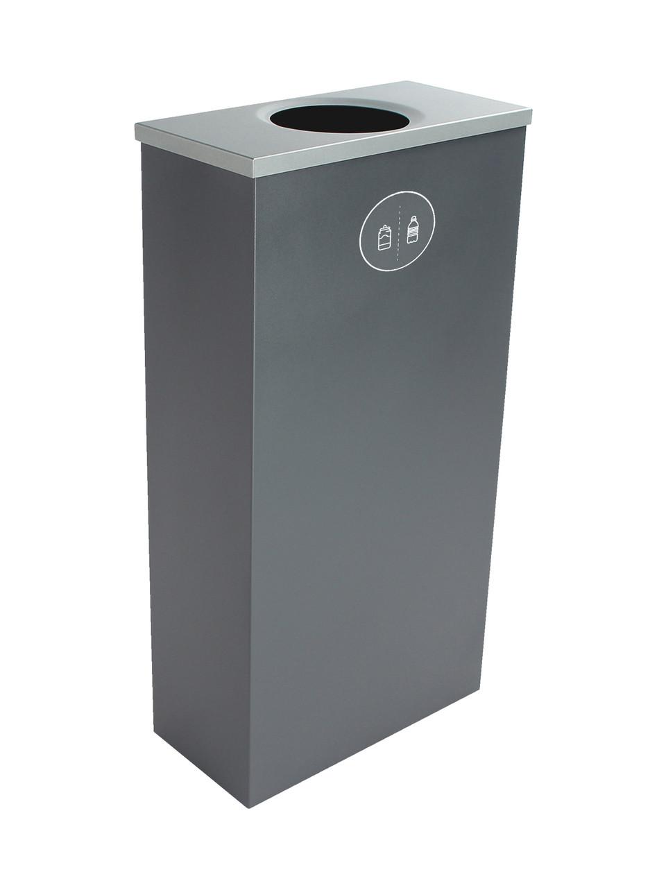 10 Gallon Steel Spectrum Slim Bottles & Cans Collector Gray 8107055-1