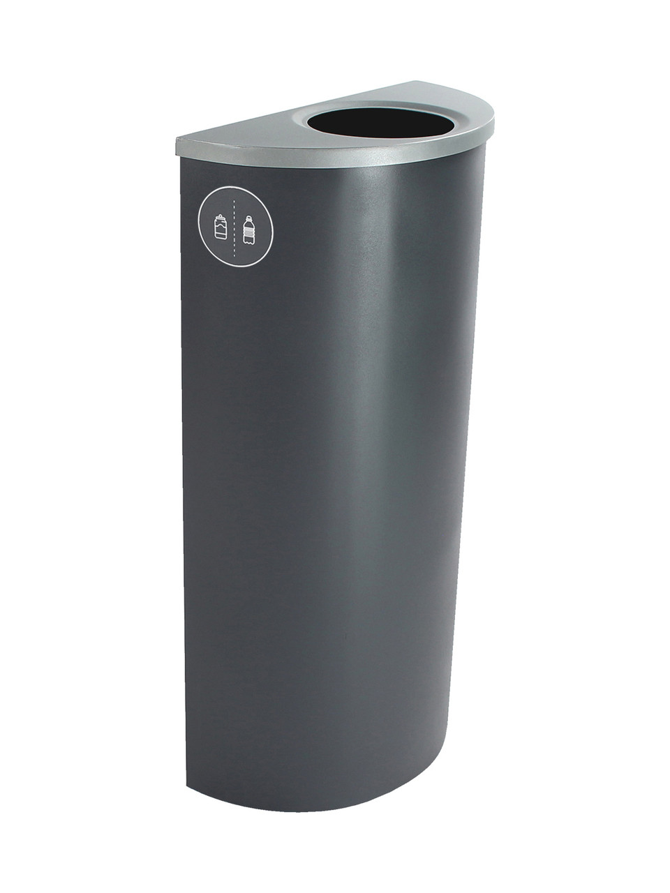 8 Gallon Steel Spectrum Half Round Bottles & Cans Collector Gray 8107020-1