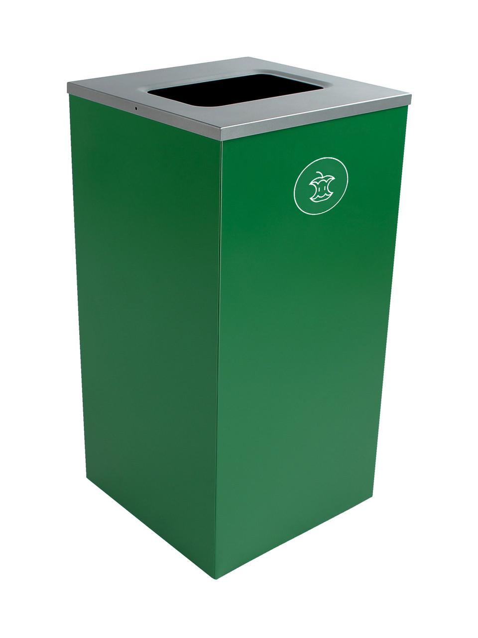 24 Gallon Steel Spectrum Cube Square Compost Bin Dark Green 8107051-4
