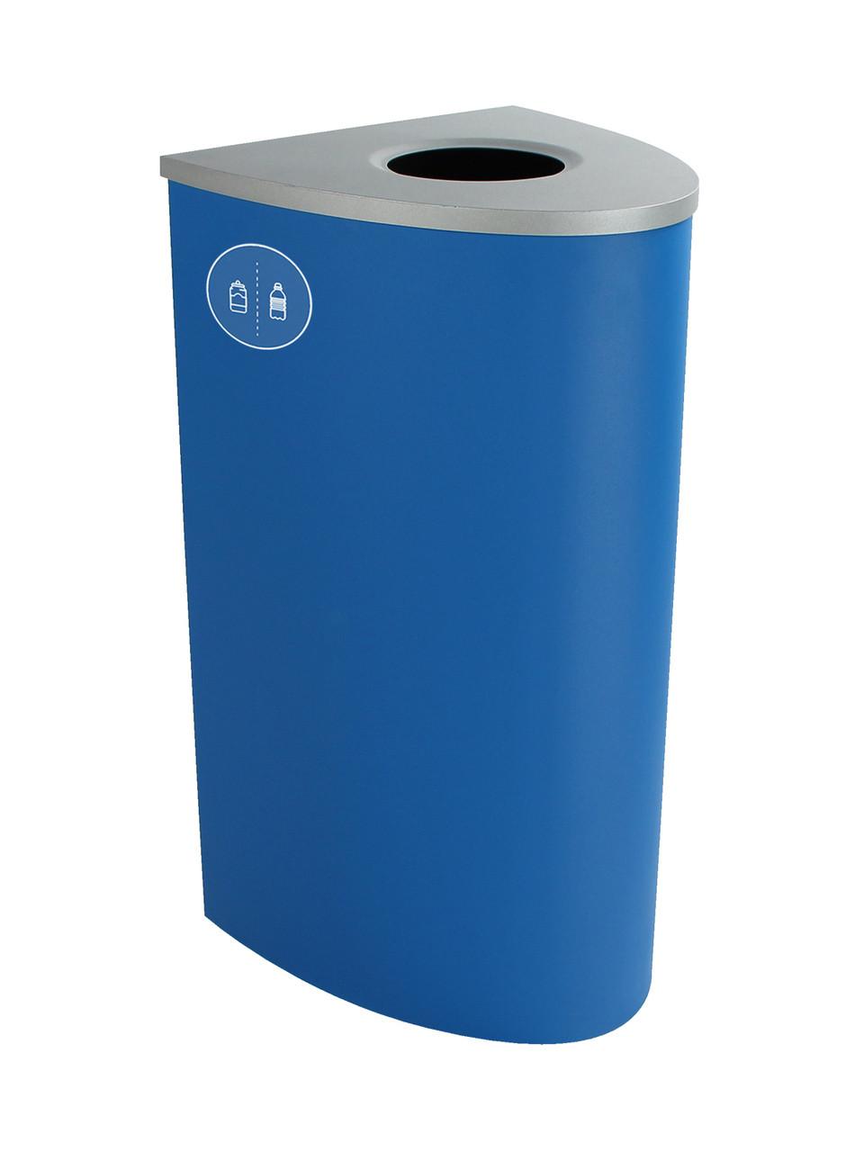 22 Gallon Steel Spectrum Ellipse Bottles & Cans Collector Blue 8107000-1
