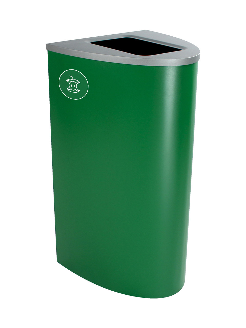 22 Gallon Steel Spectrum Ellipse Compost Bin Dark Green 8107011-4