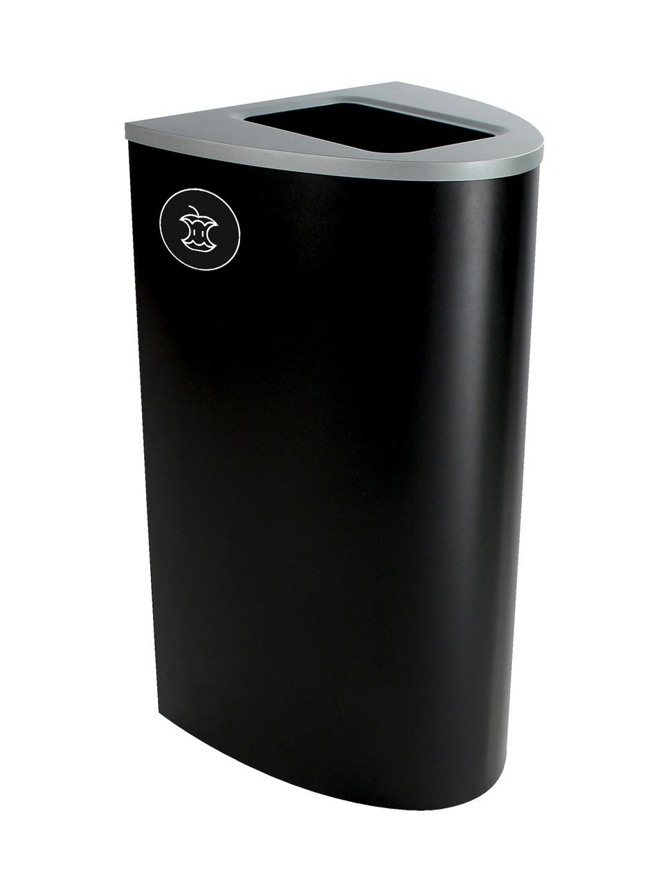22 Gallon Steel Spectrum Ellipse Compost Bin Black 8107014-4