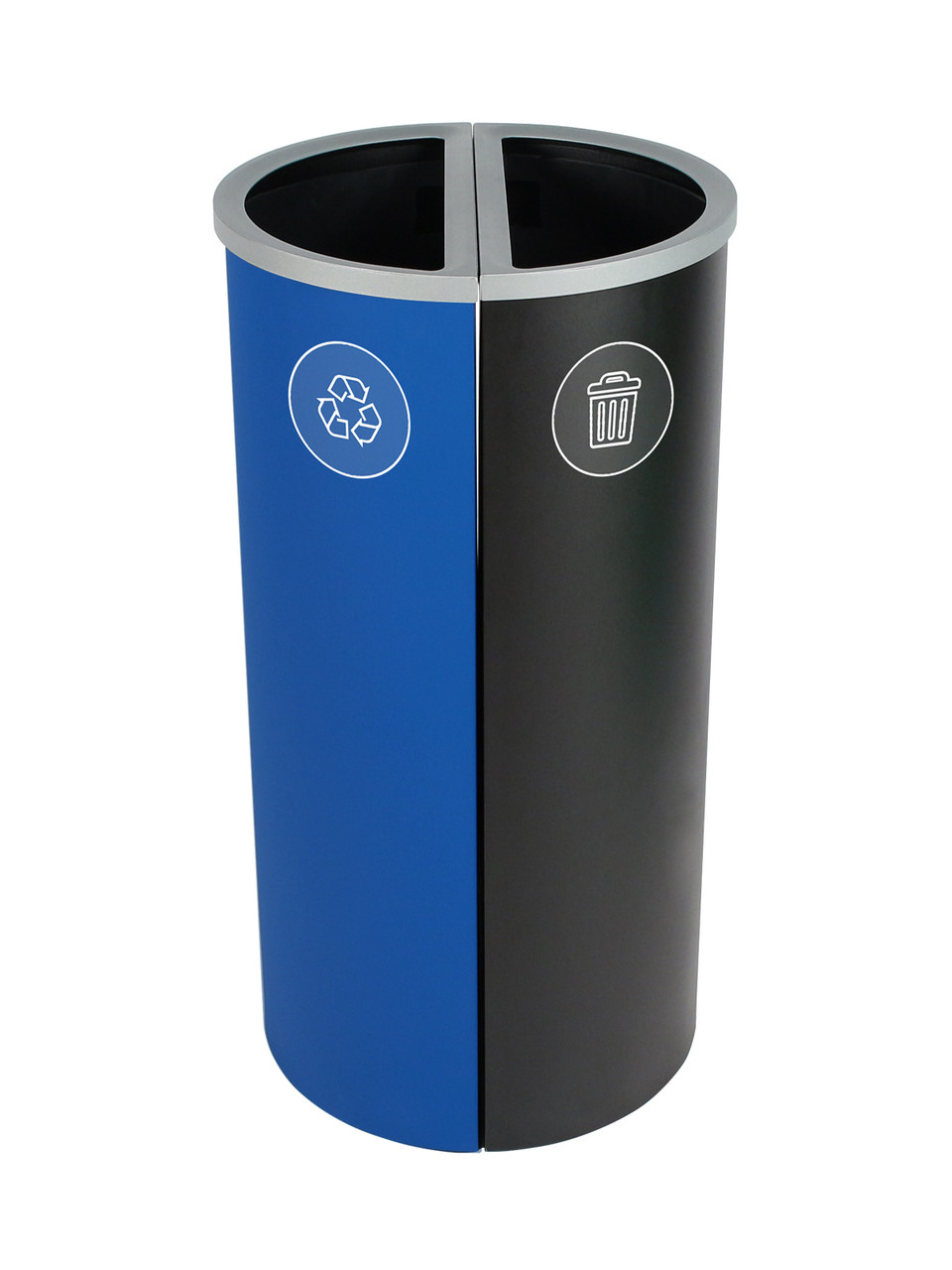 16 Gallon Spectrum Round Trash Can & Recycle Bin Blue/Black 8107084-44
