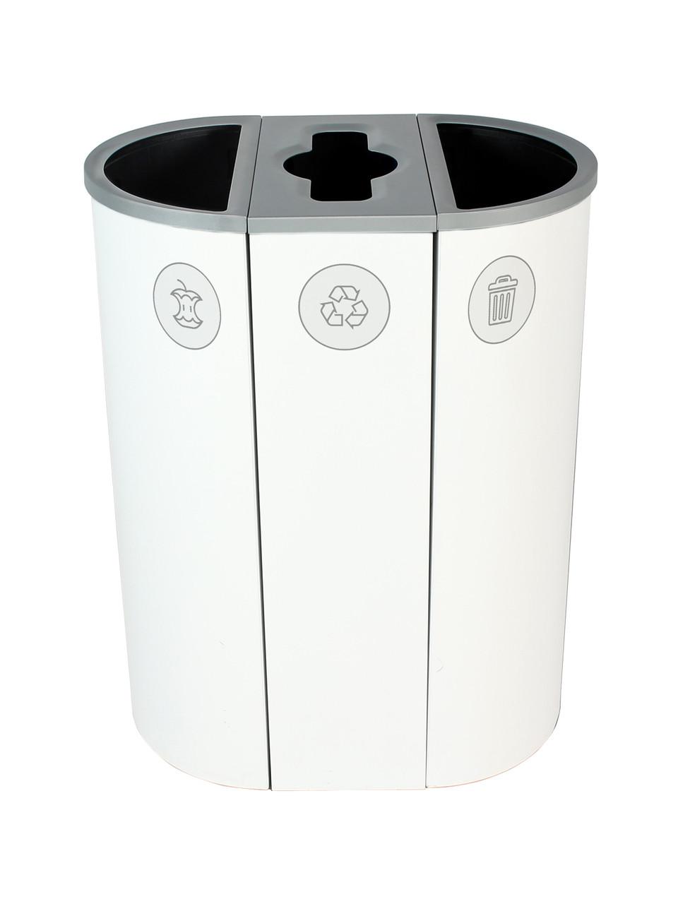 26 Gallon Spectrum Triple Recycling Station White 8107116-424