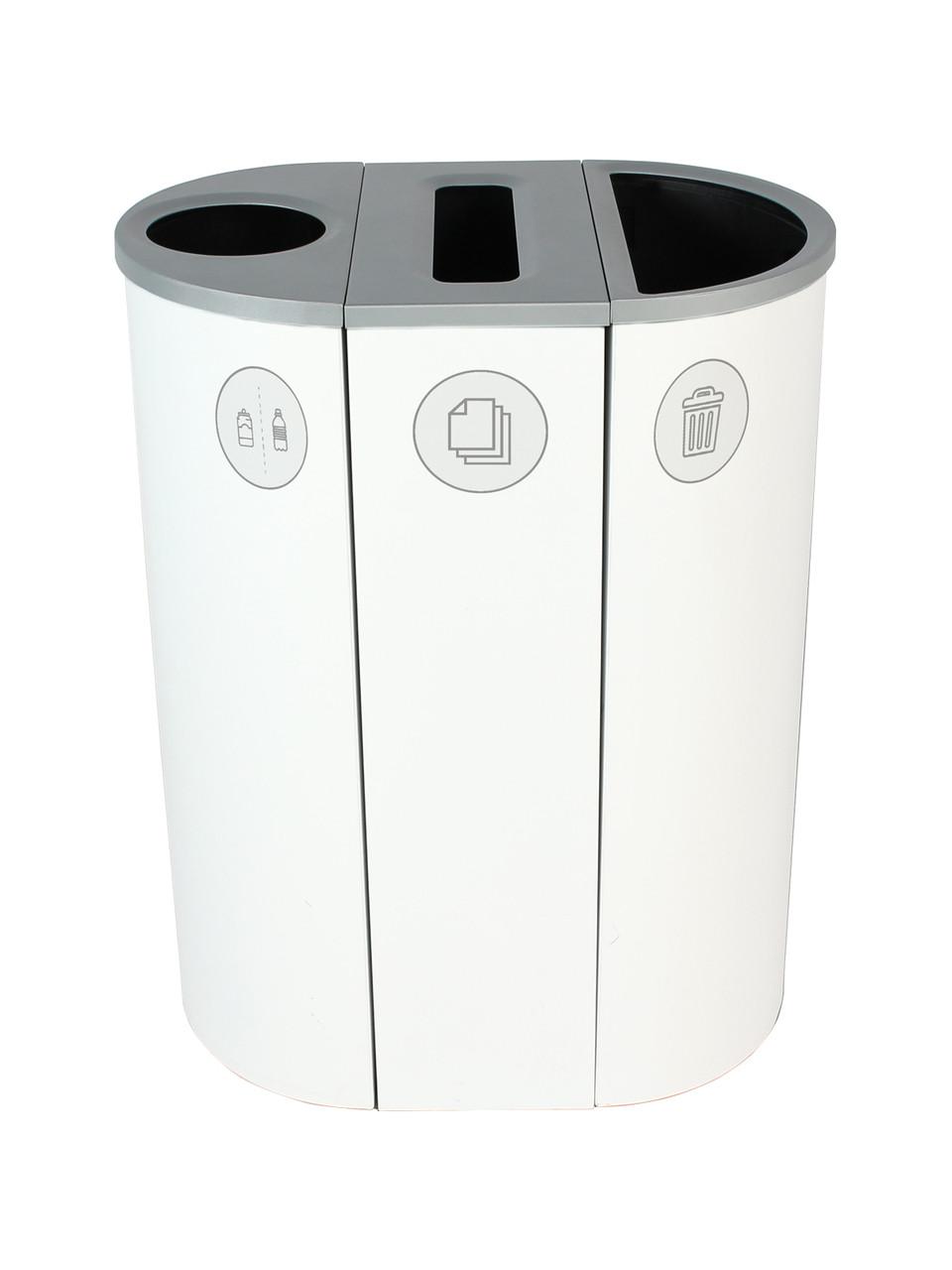 26 Gallon Spectrum Triple Recycling Station White 8107115-134