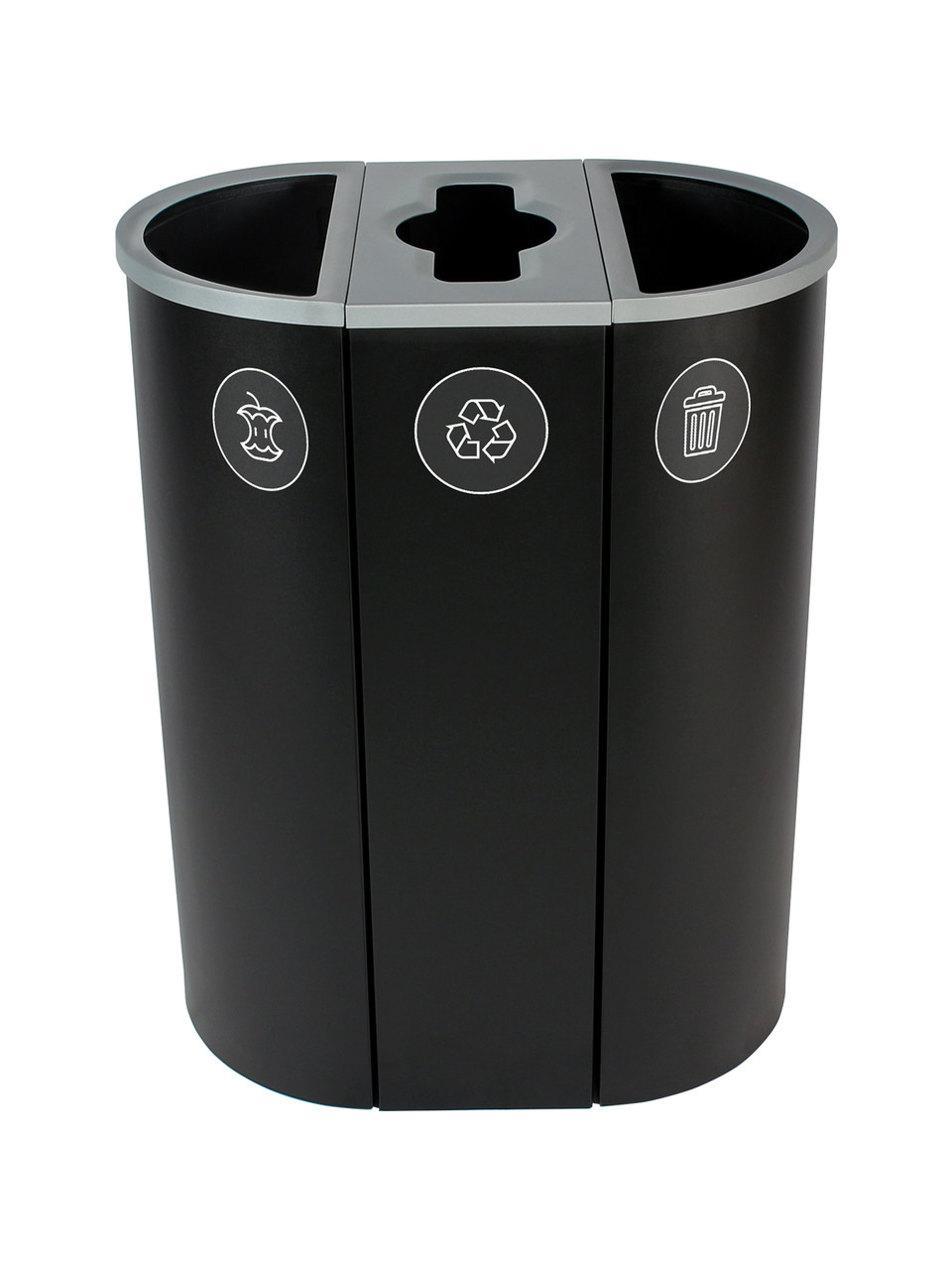 26 Gallon Spectrum Triple Recycling Station Black 8107114-424