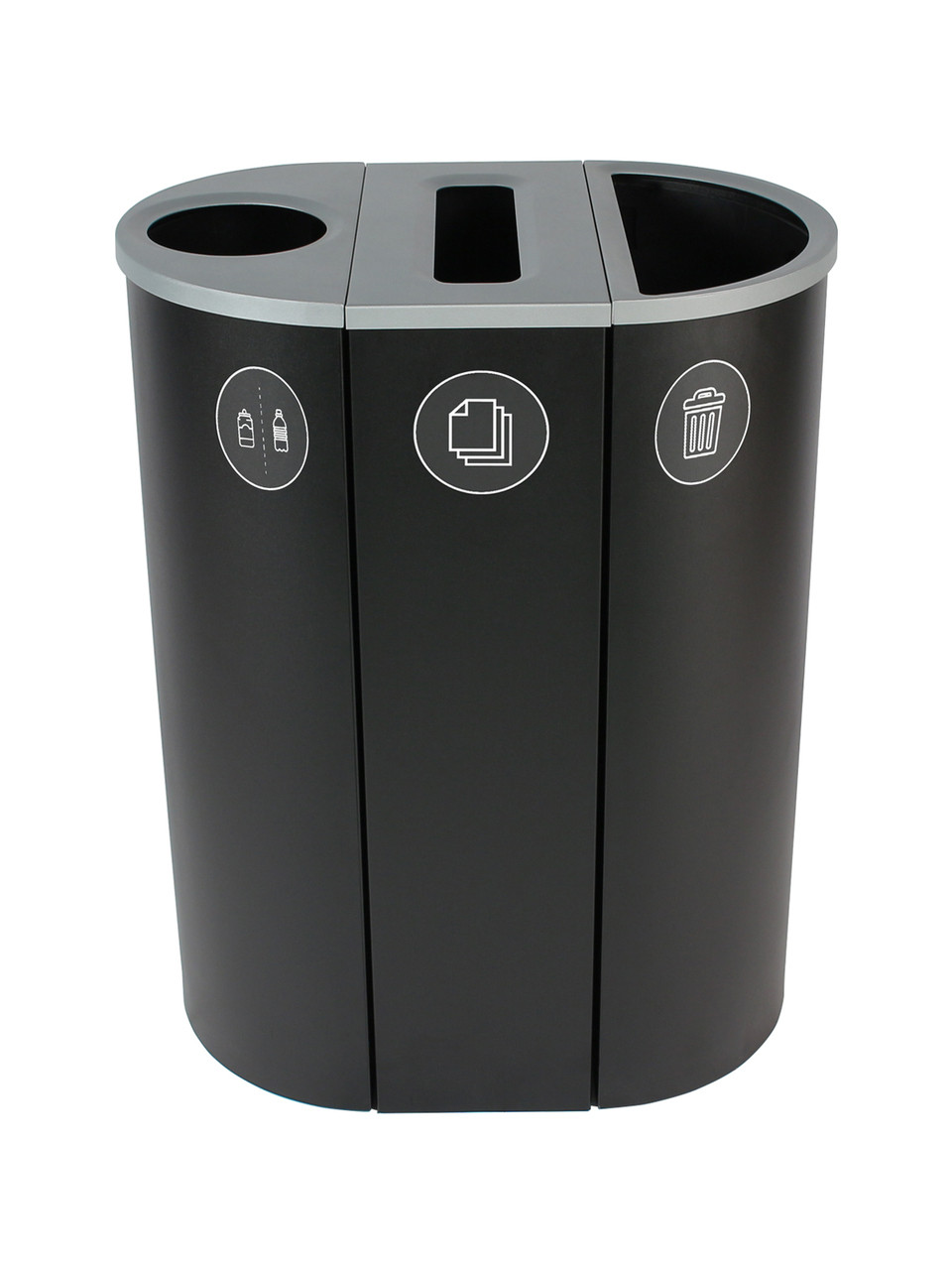 26 Gallon Spectrum Triple Recycling Station Black 8107113-134