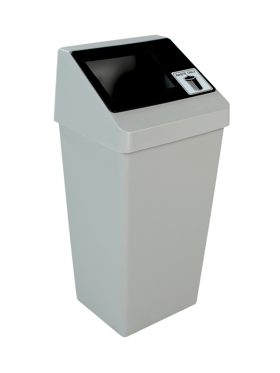 22 Gallon Smart Sort Trash Can Gray and Black 100841 (Waste Only)