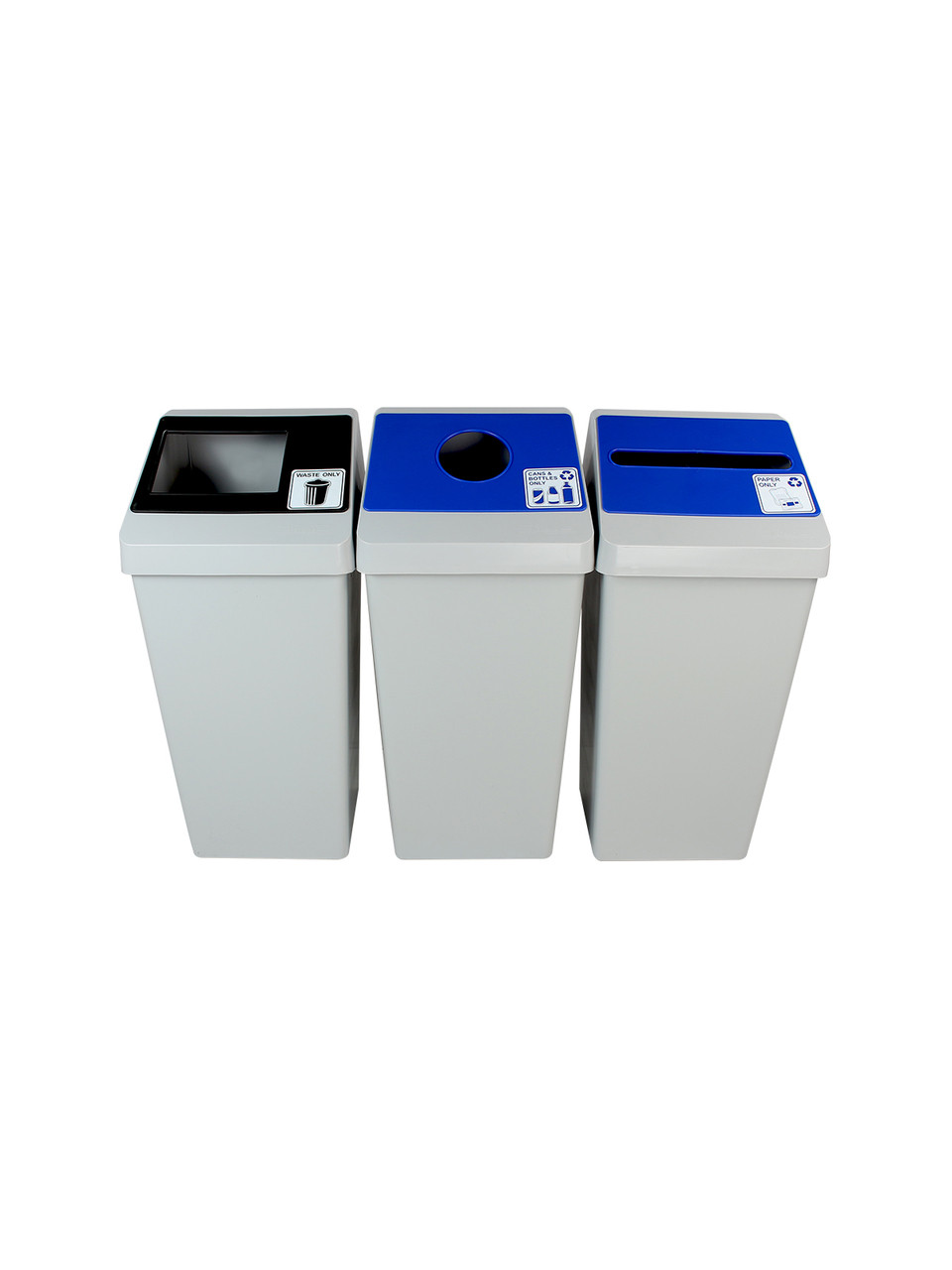 66 Gallon Smart Sort Triple 100852 (Waste Only, Cans&Bottles, Paper Only)