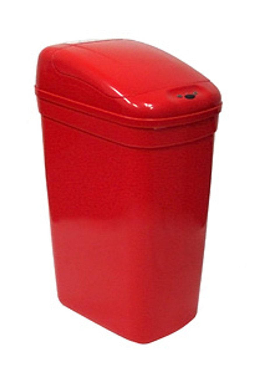 Touchless Automatic Medical Red Trash Can 7 Gallon