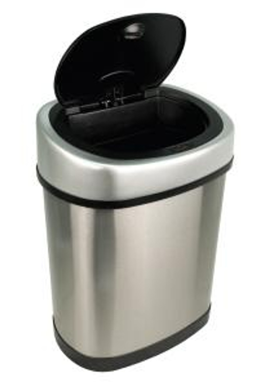 Touchless Automatic Trash Can 3 Gallon Stainless Steel Open