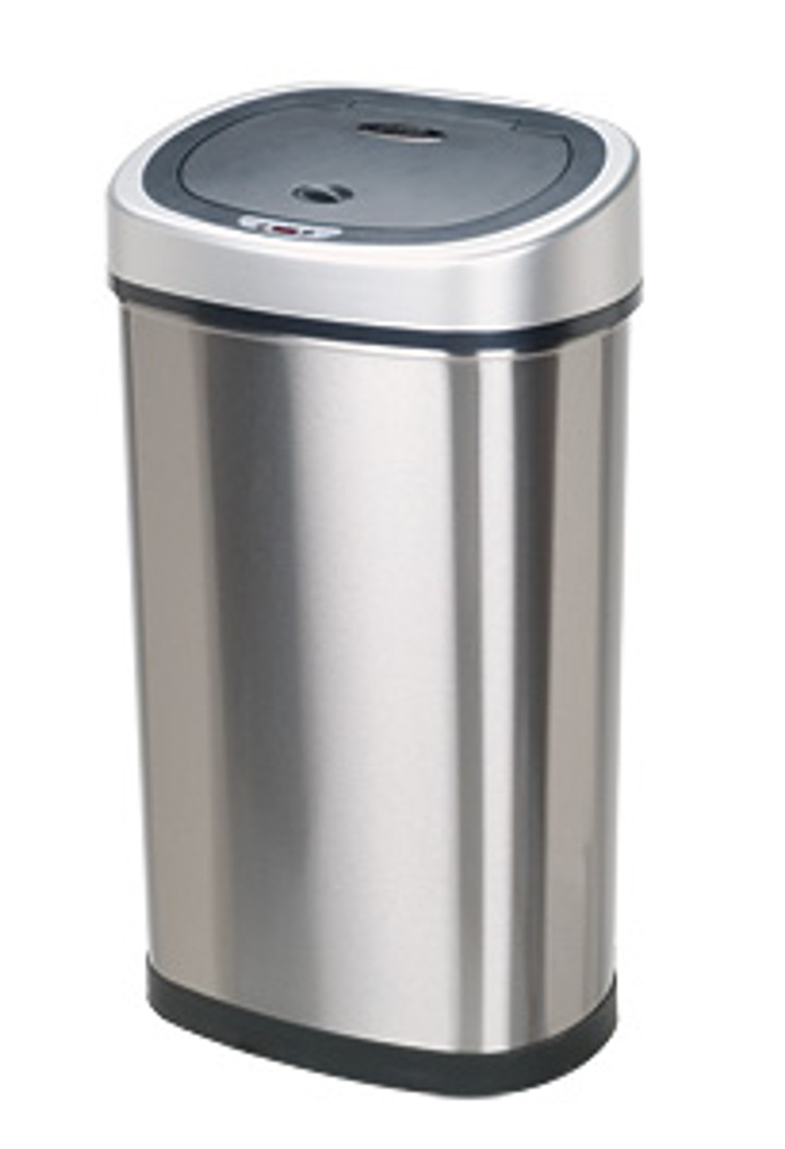 Touchless Automatic Kitchen Trash Can Stainless Steel DZT-50-9 (2 Sizes)