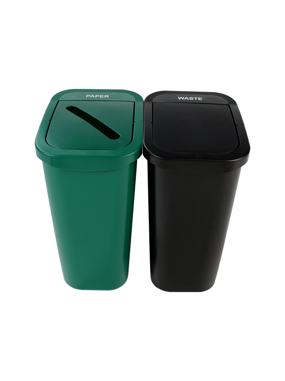 20 Gallon Billi Box Double Trash Can Recycle Bin Combo 8102023-34 (Paper, Waste Swing)