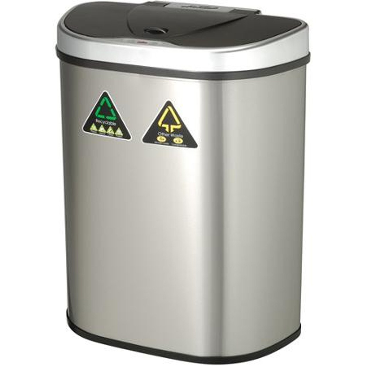 18 Gallon Touchless Automatic Kitchen Recycling Trash Can DZT-70-11R Side