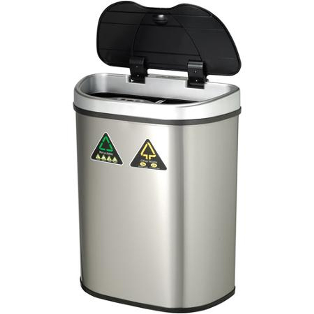 18 Gallon Touchless Automatic Kitchen Recycling Trash Can DZT-70-11R Open